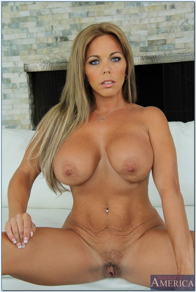 Big Tits Blonde Couch Ivory Long Hair Milf Pierced Solo Spreading 1