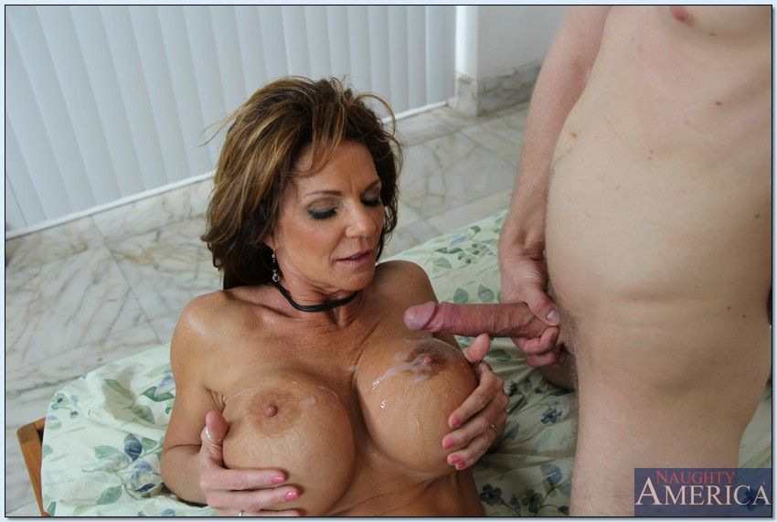 frisky latin bitch gets her big tits polished by aroused dude
