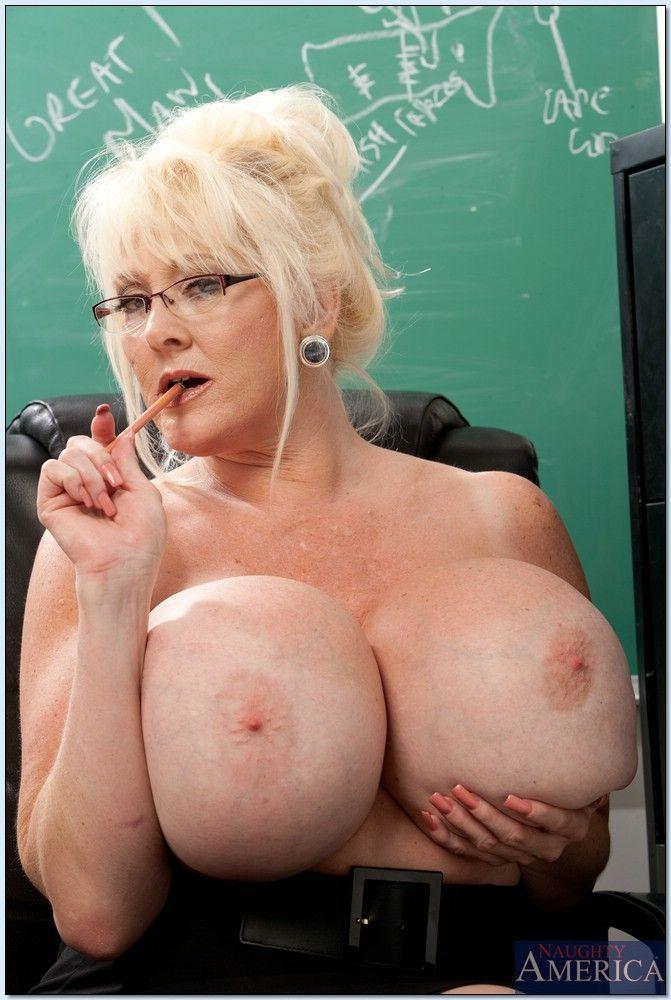 image Brunette granny glasses first time cashing