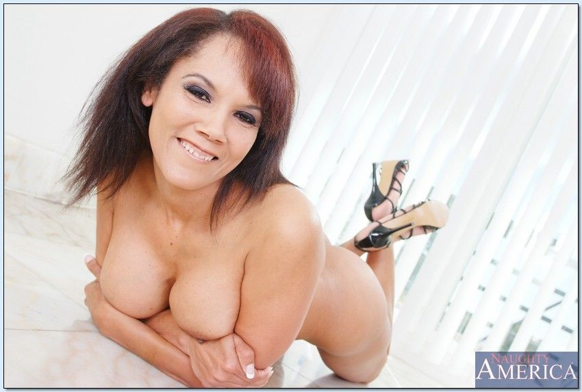 Anjanette toys her ass amp cunt with huge dildos 4