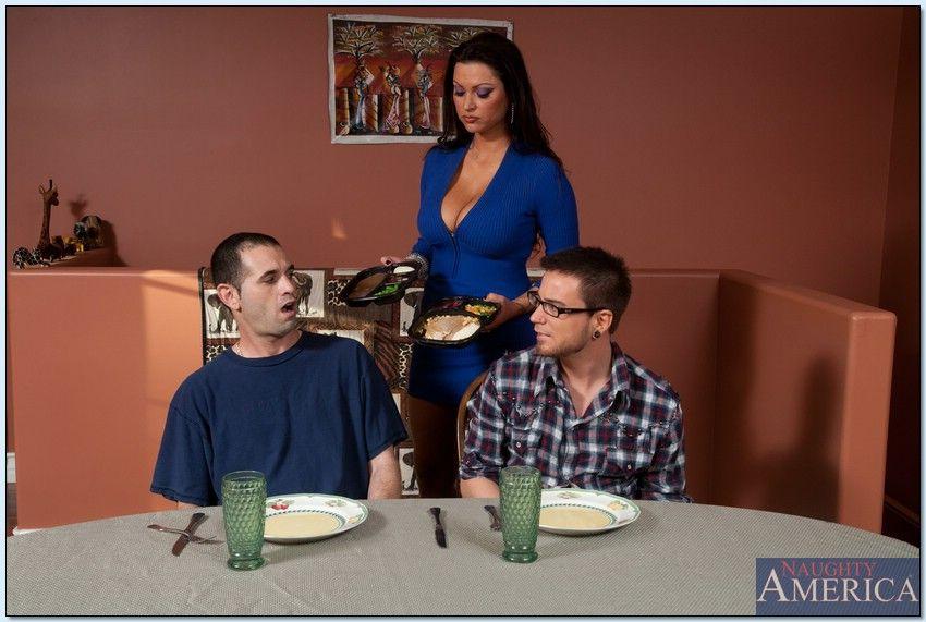 Busty MILF Nikita Denise seduced a guy for hardcore banging on the couch № 511109 загрузить