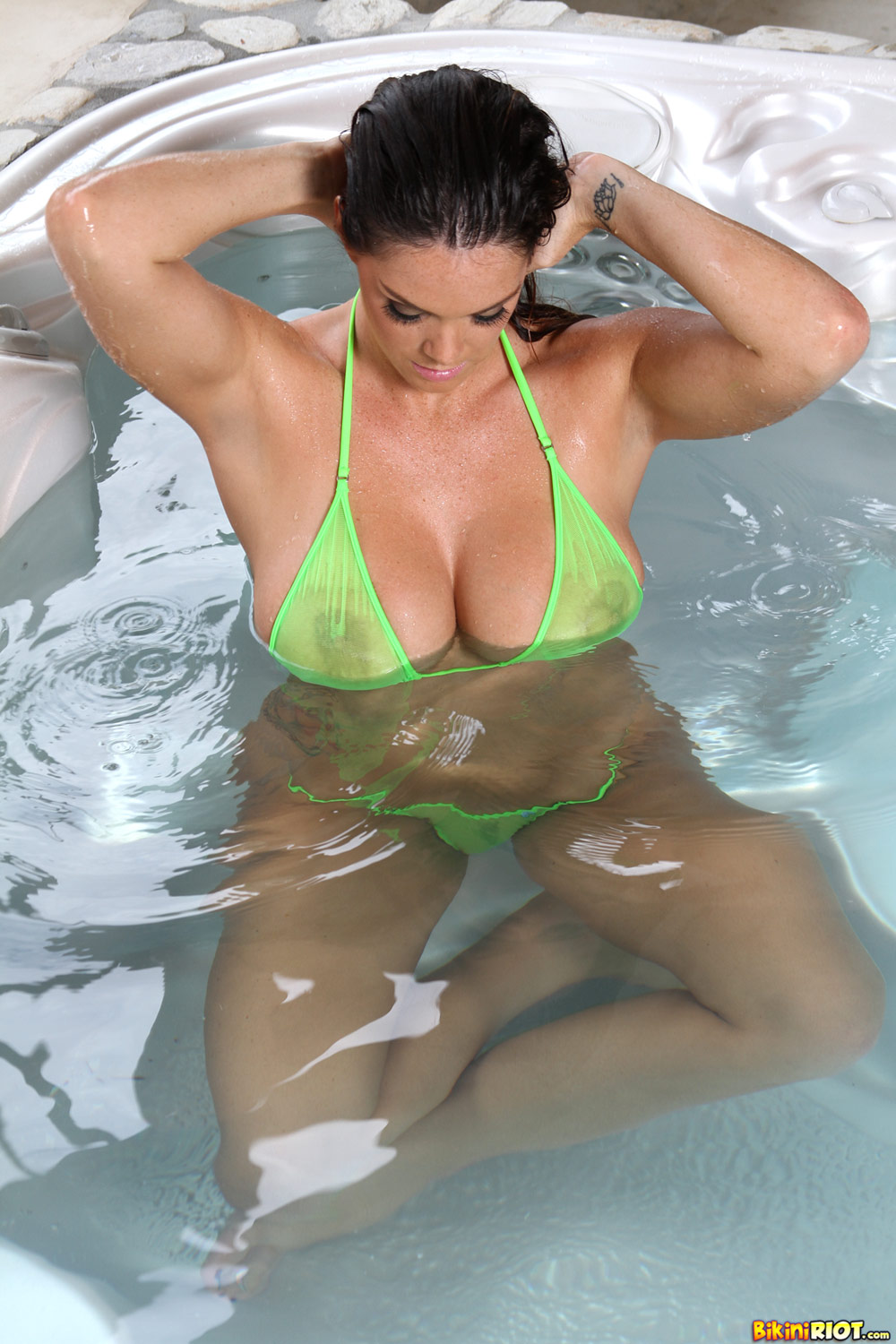 Alison Tyler - Green Sheer G-String 4356-6535