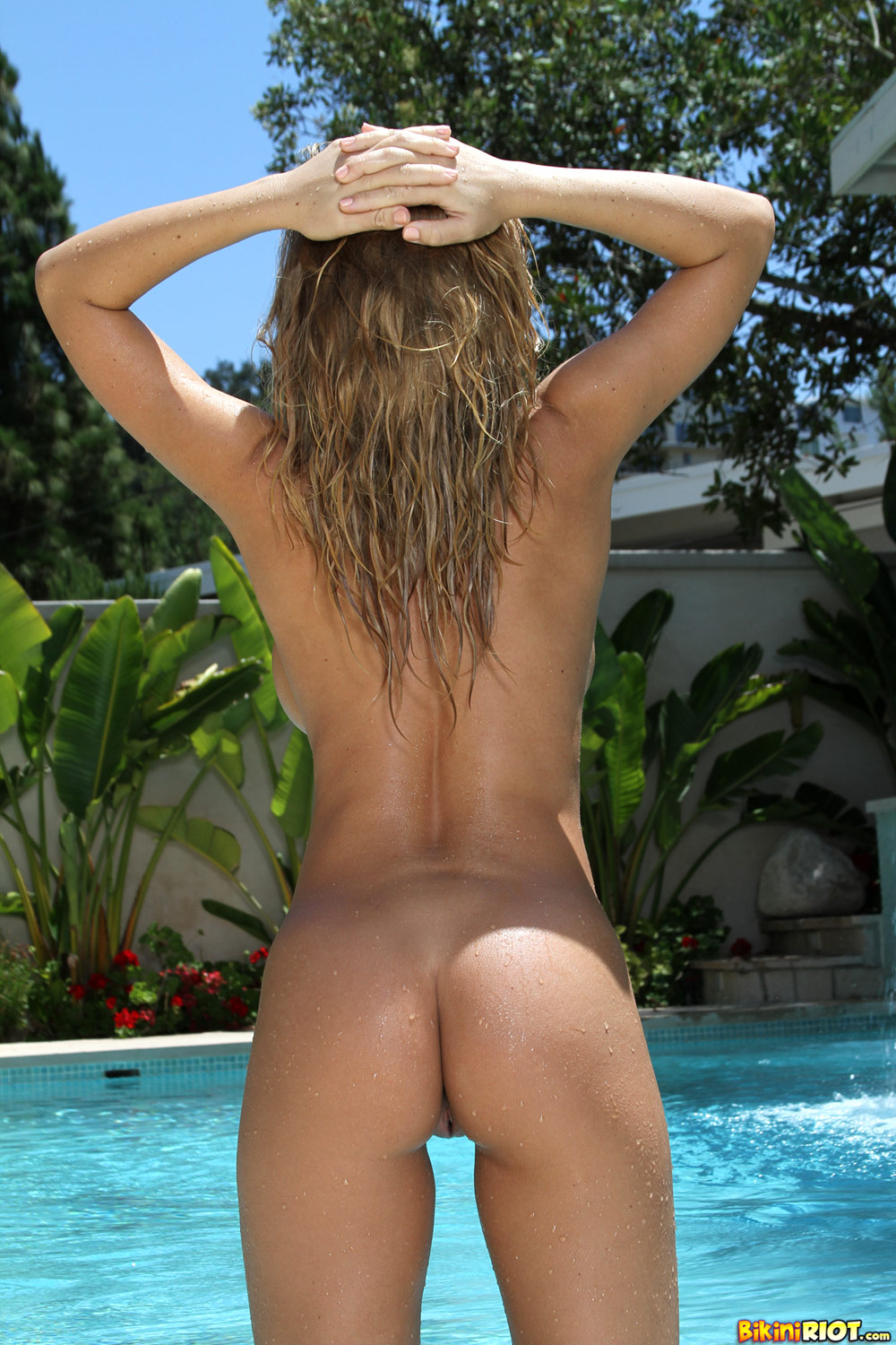 Was and a thong bikini on have faced