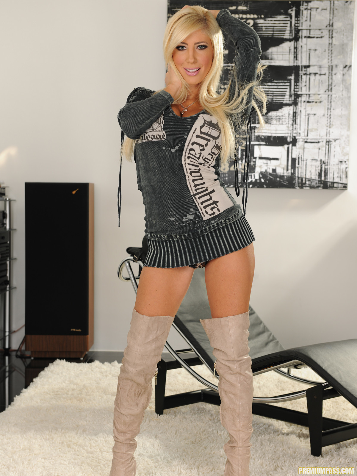 Tasha Reign Wearing Nothing But Thigh-High Boots 56444-3729