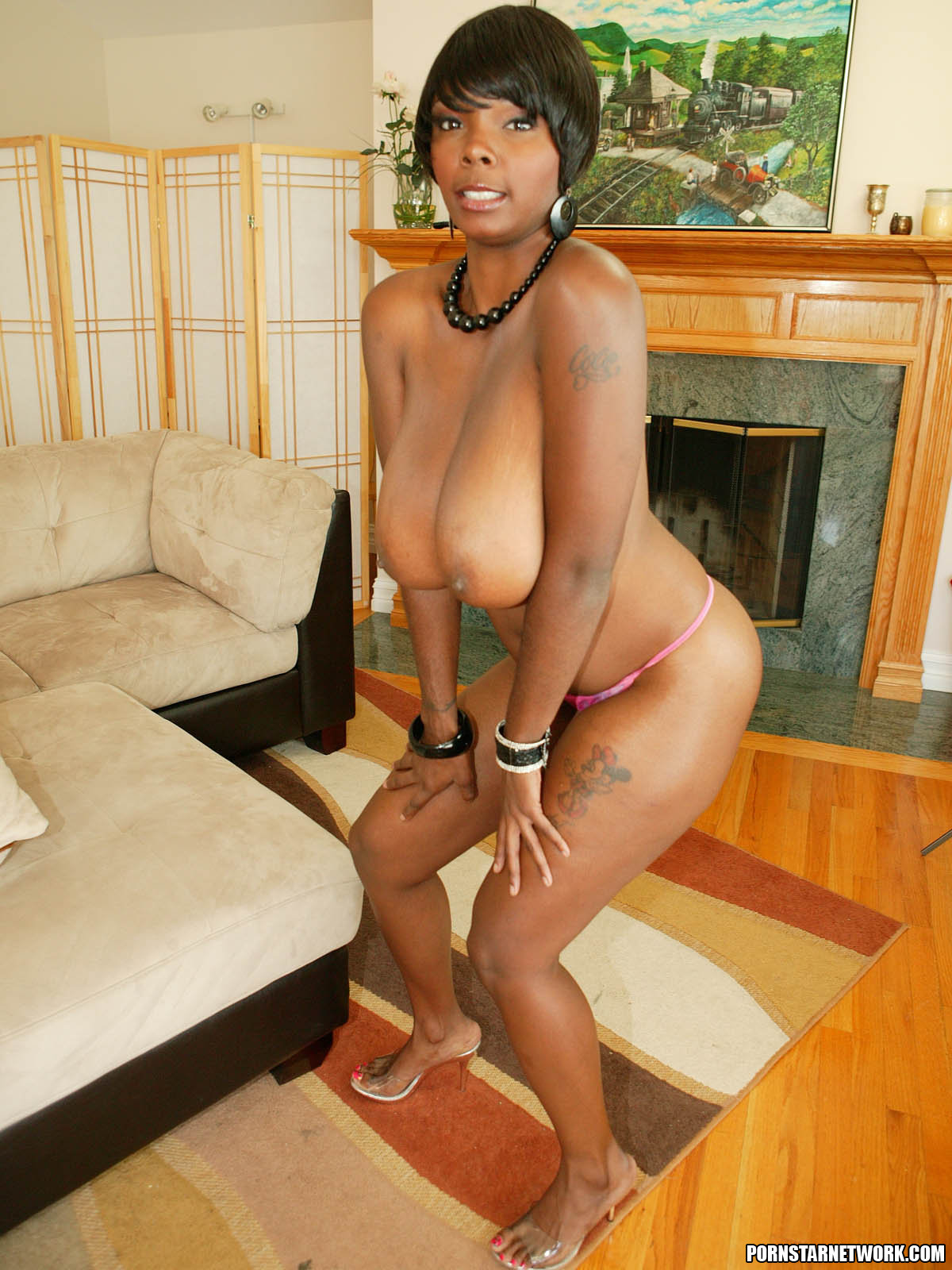 Ebony Stacy Adams Shows Off Her Big Natural Tits 58094-6399