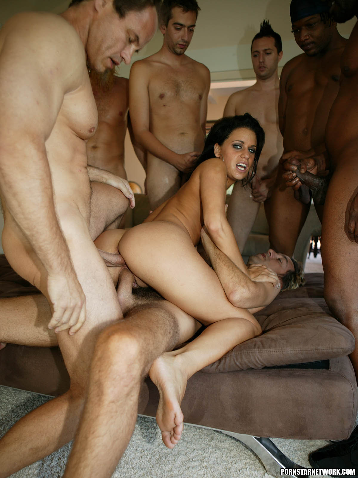 My girlfriend gangbang