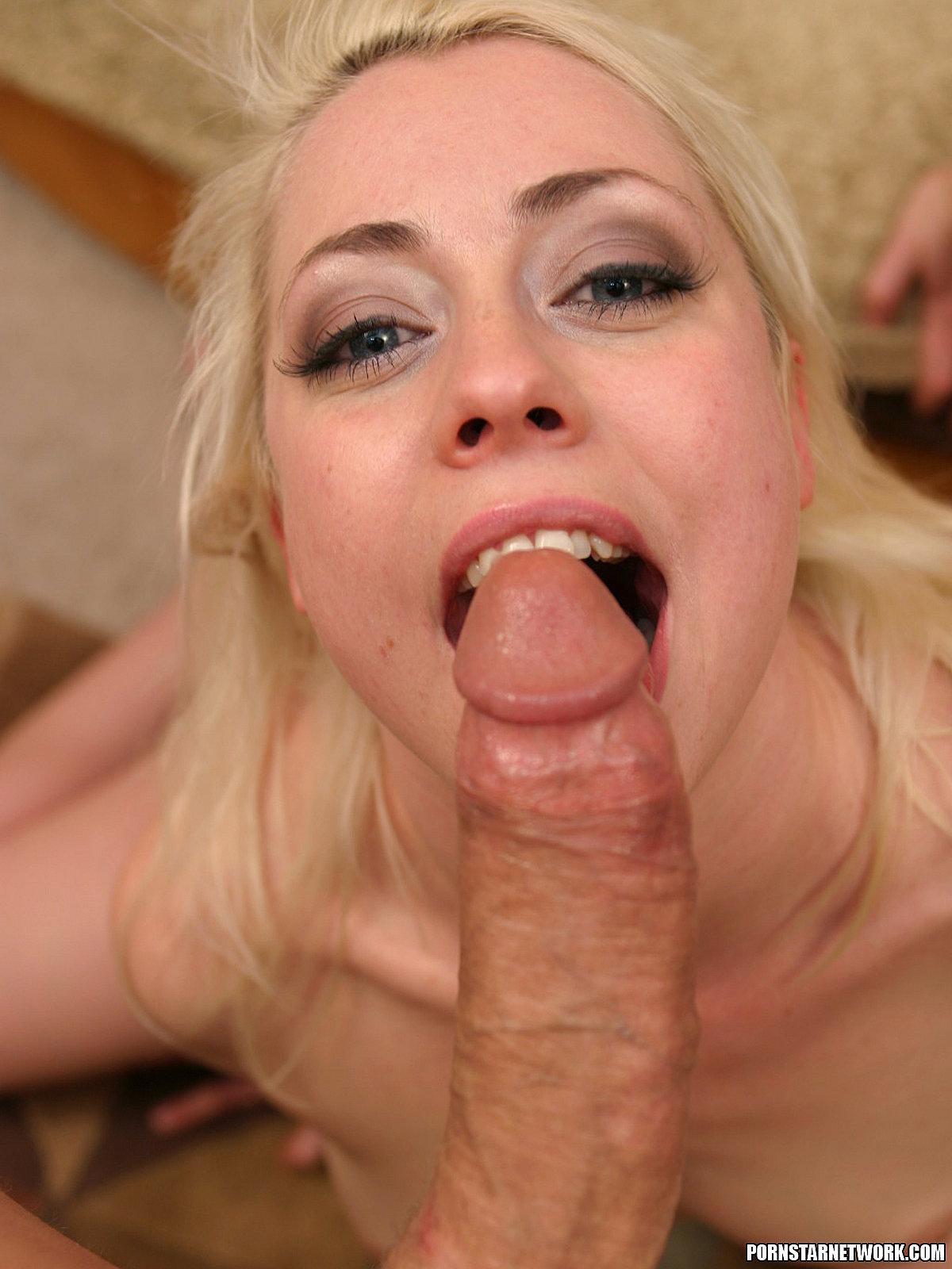 Cute blonde blowjob