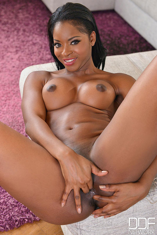 Hot ebony with juicy tits gets nailed by white hunk indoors 7