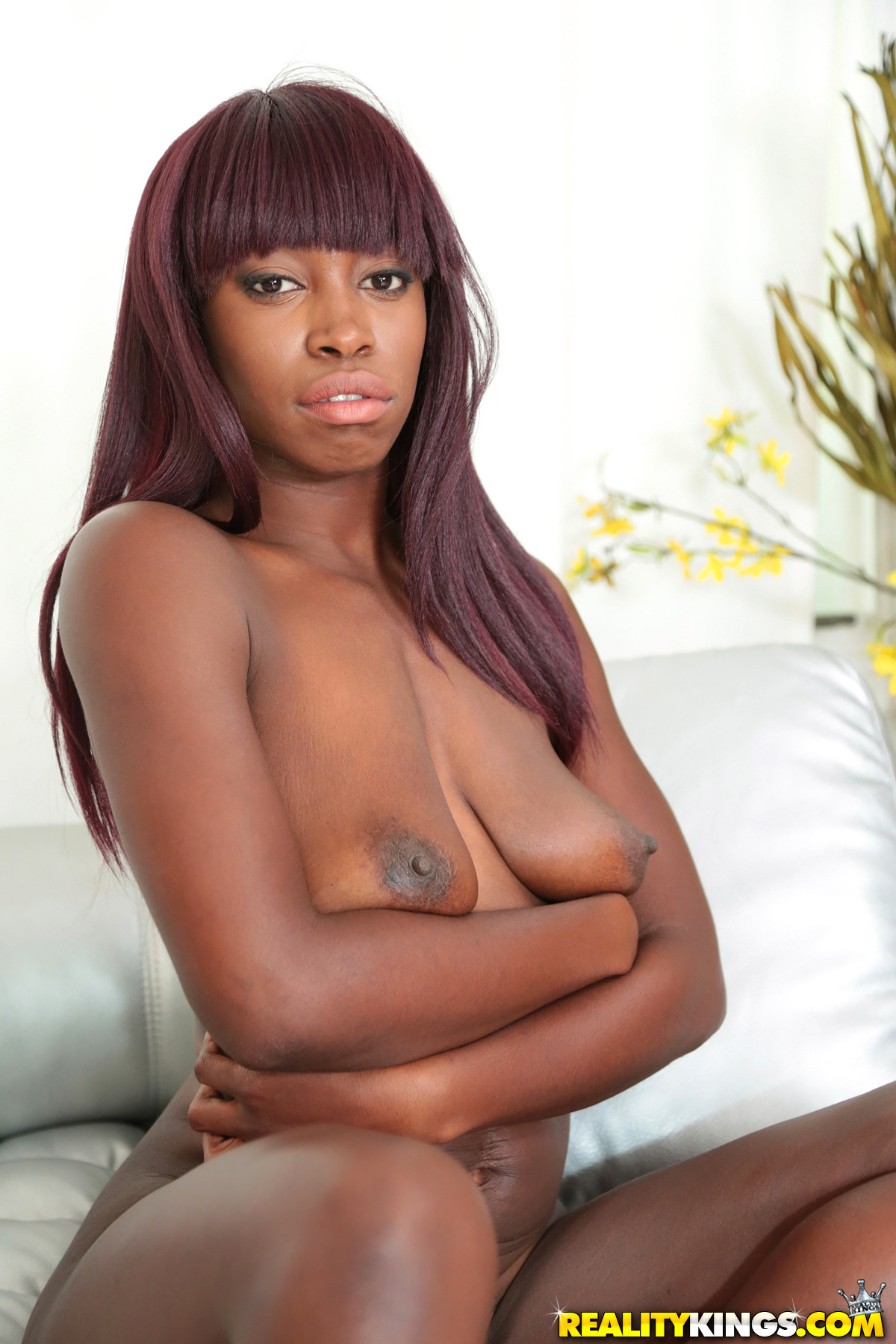 Big black tits covered in cum