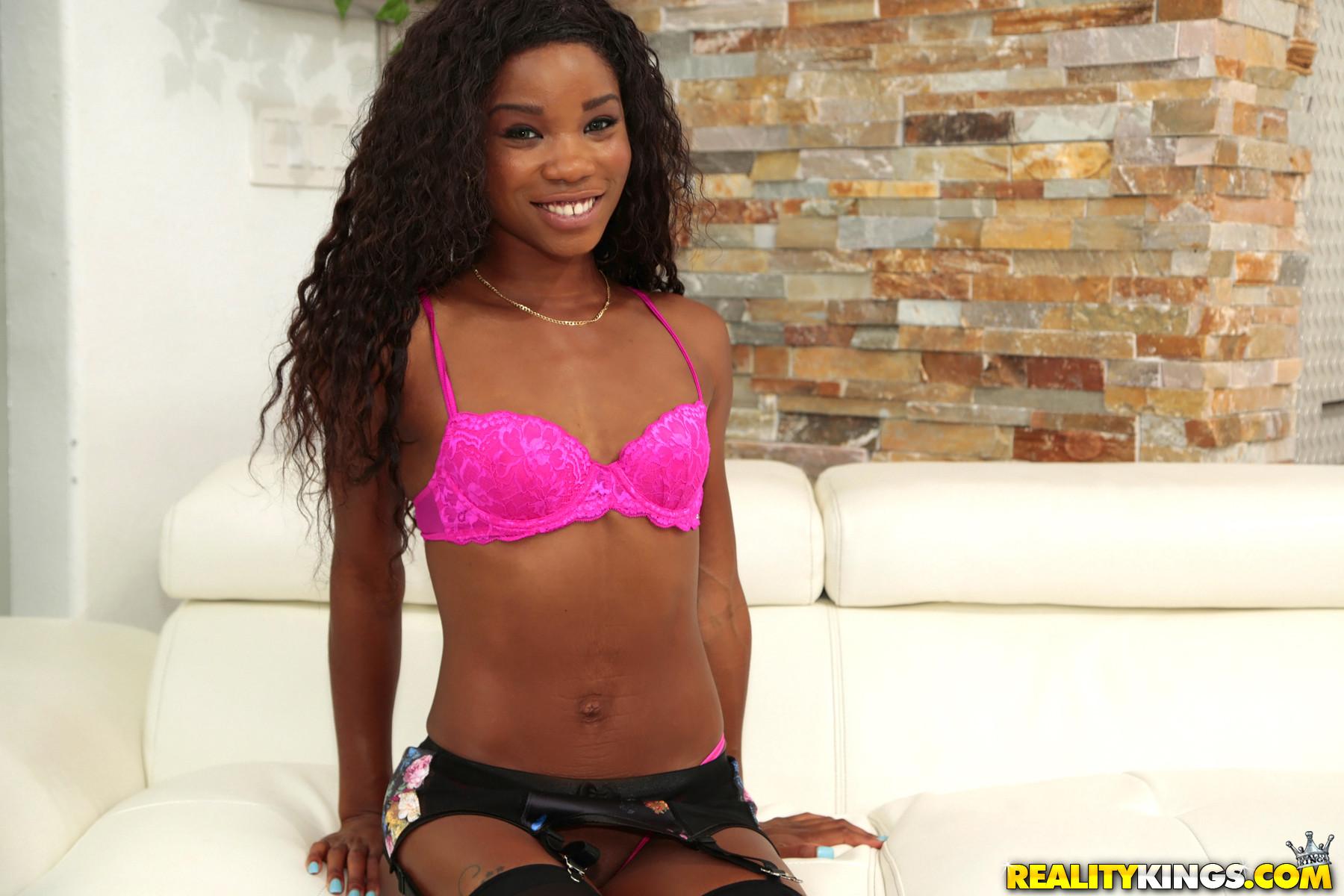 Curvy black girl enjoys a white dick in her ebony booty