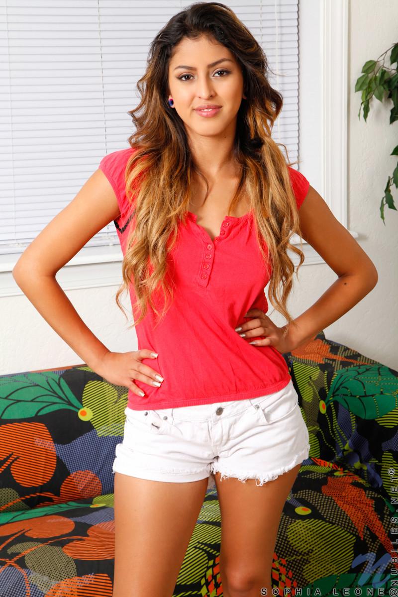 Sexy latina teen sophia leone showing us her goods