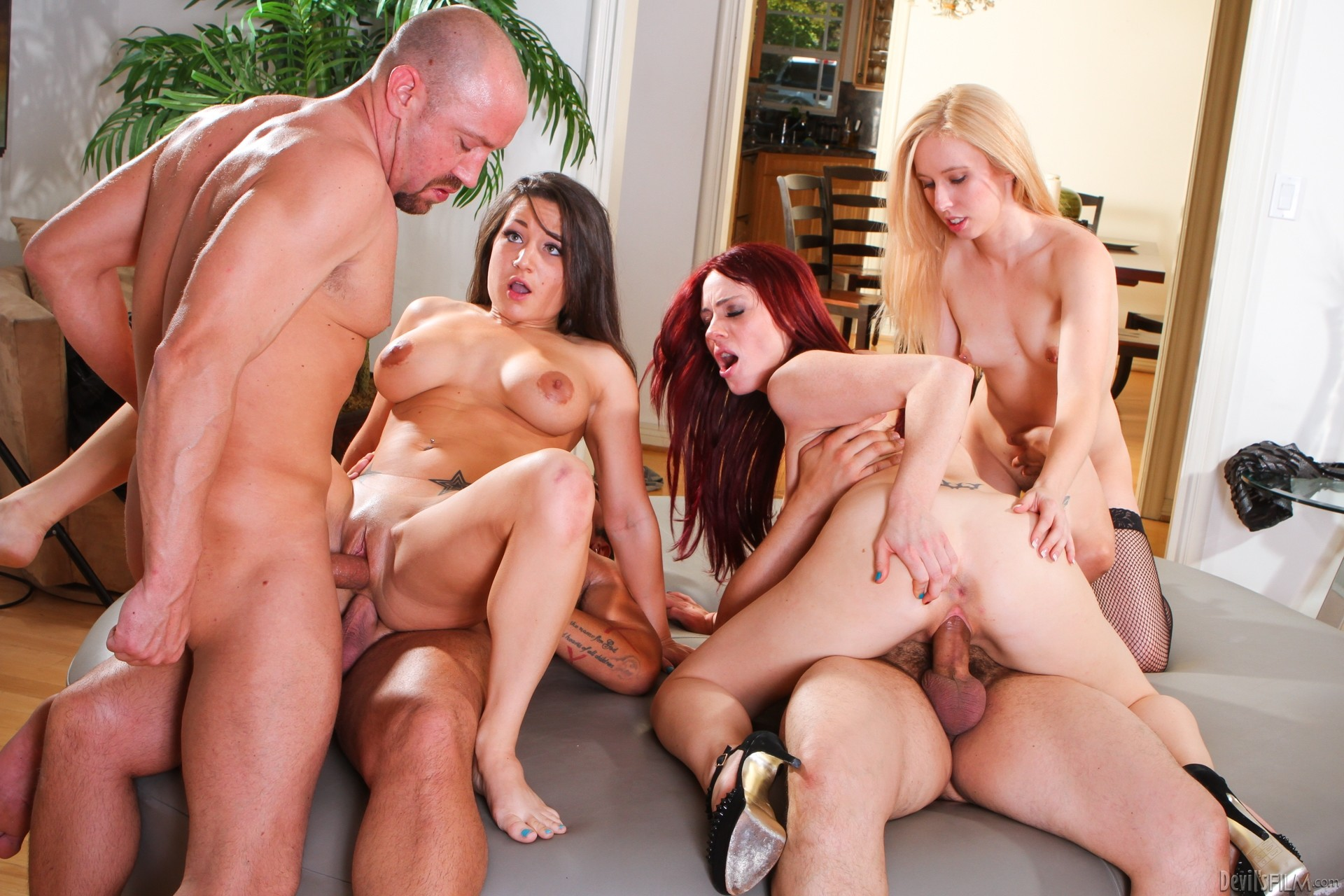 Explicit group fornication with wild hotties and studs sex photo