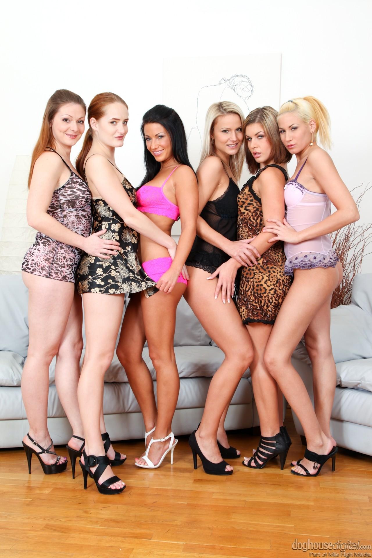 Oiled Lesbian Orgy