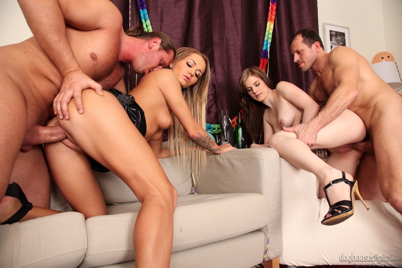 Doghouse hot euro orgy with anal and facials