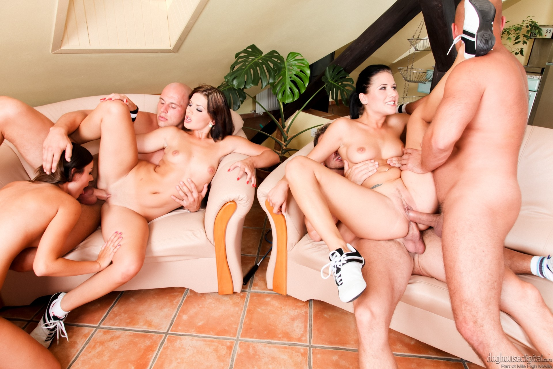 Myveryfirsttime living out her fantasy with first group sex with friend
