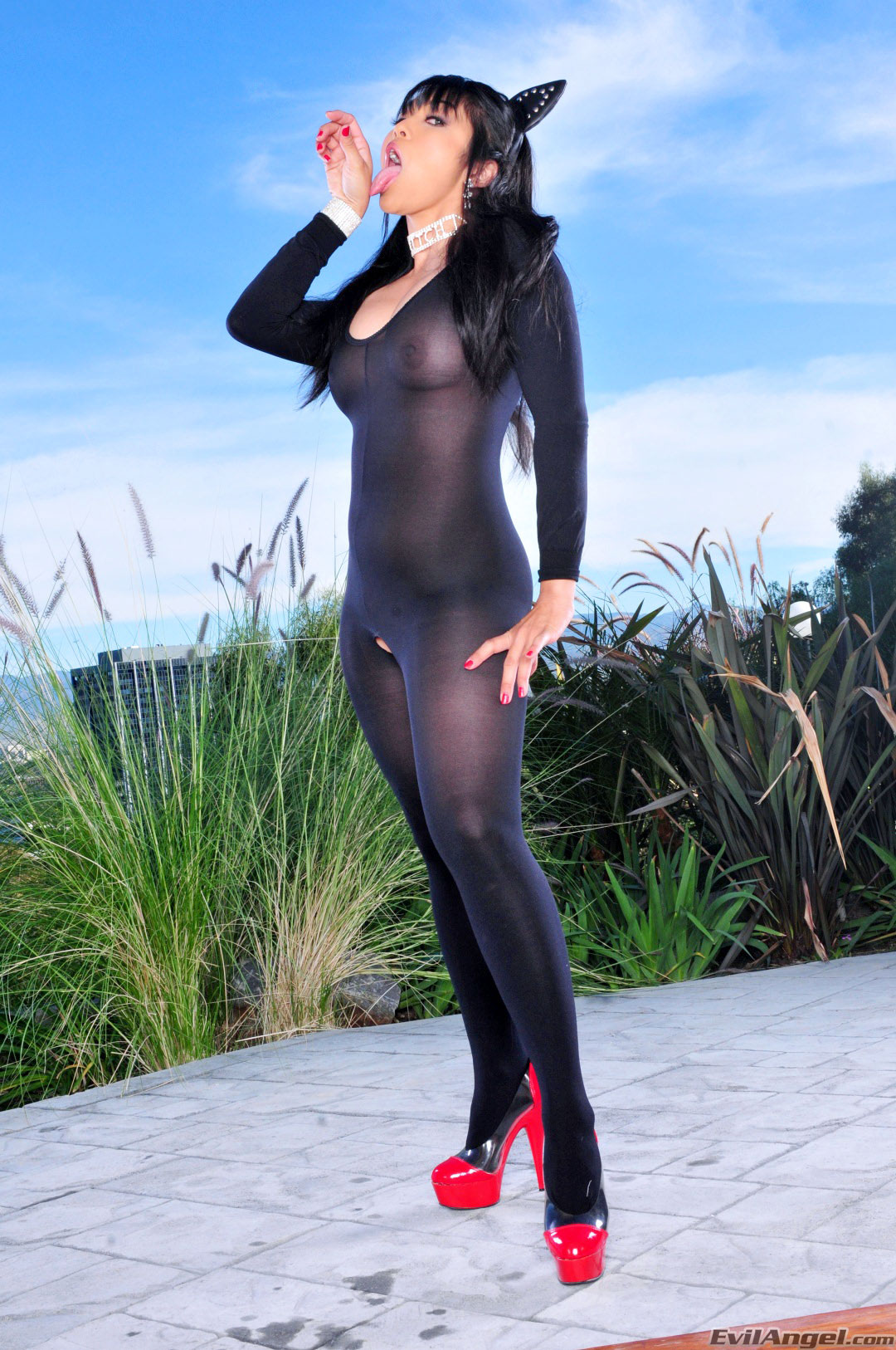 Mika tan catsuit