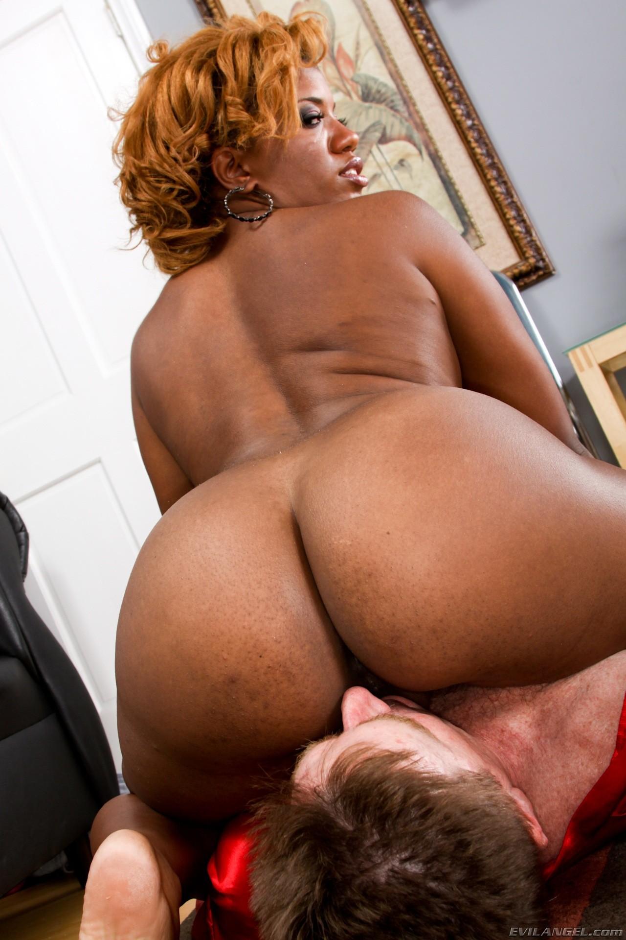 Femdom ebony ass worship