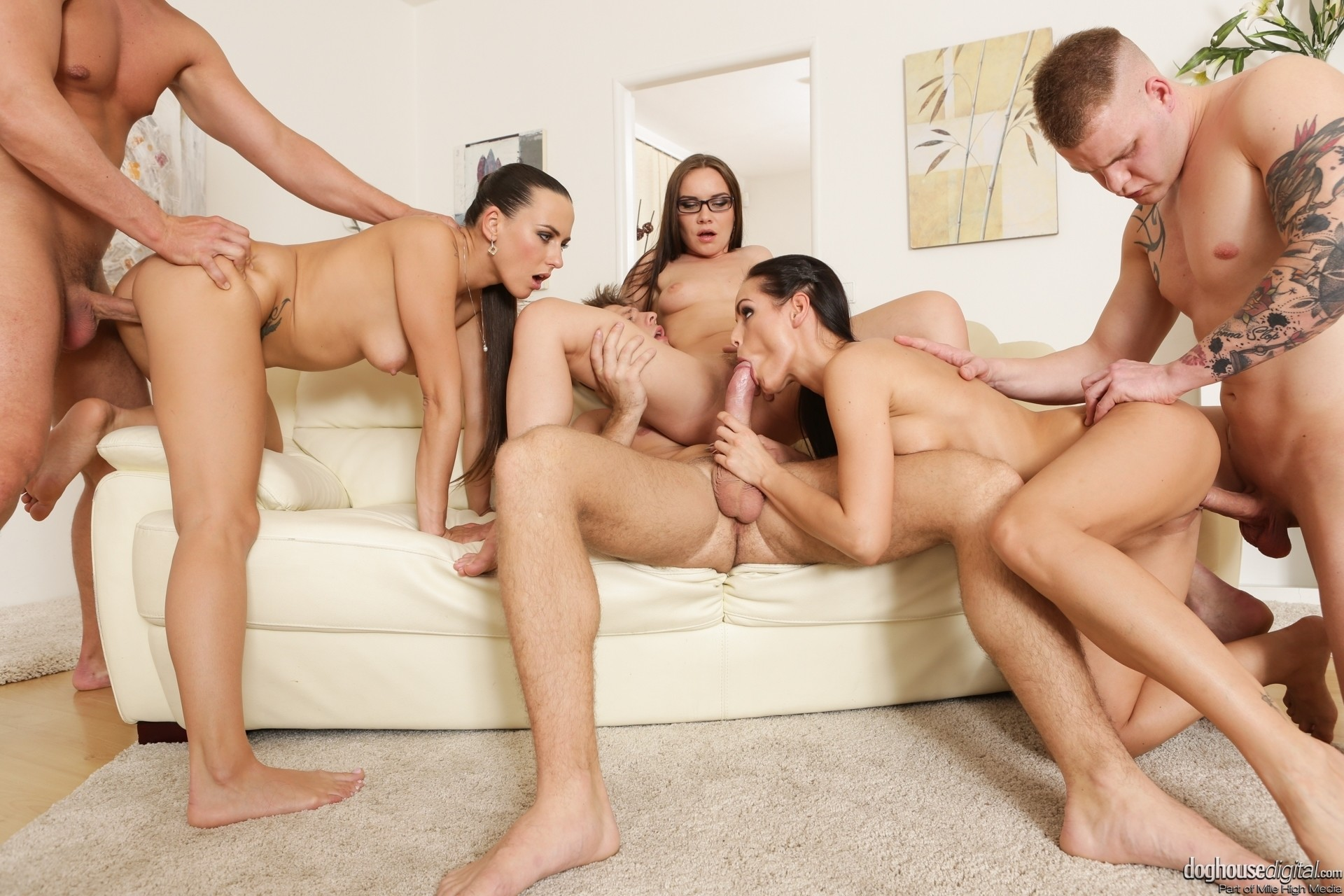 Perfect orgy outdoors