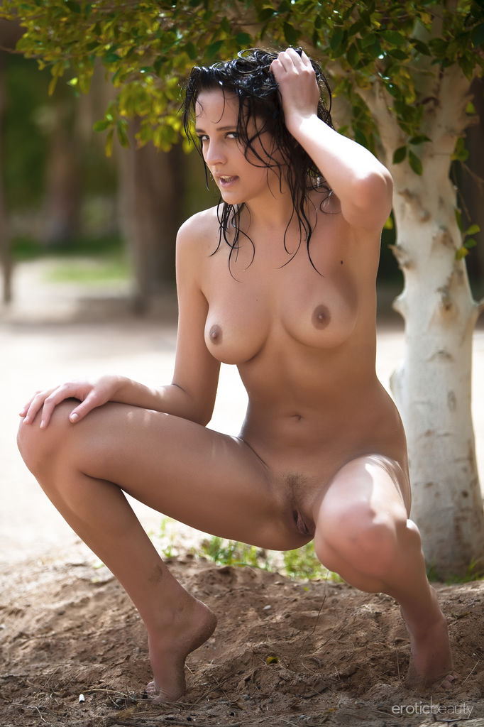 Beautiful Nude Women Walking