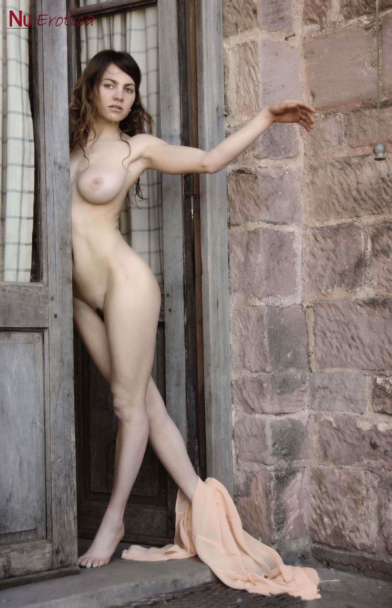 Esmeralda Nude In Courtyard - NuErotica 94002