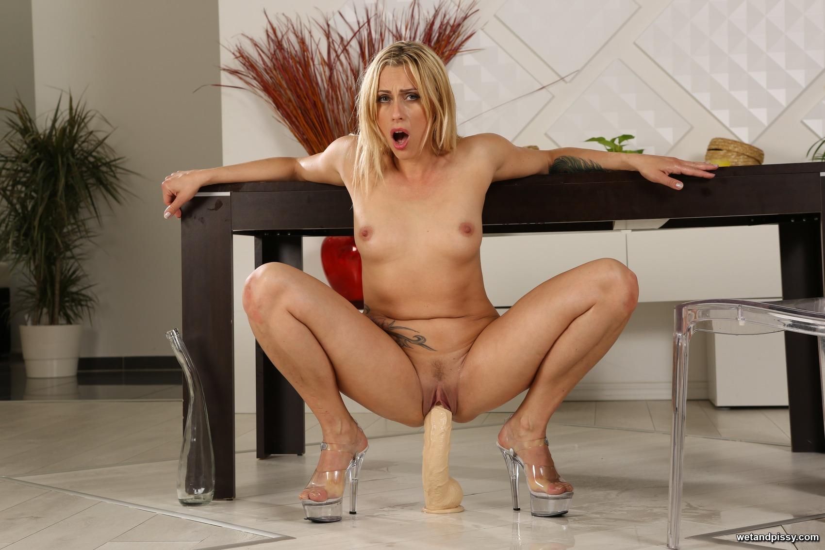 Blonde german pornstar fingers her wet pussy private