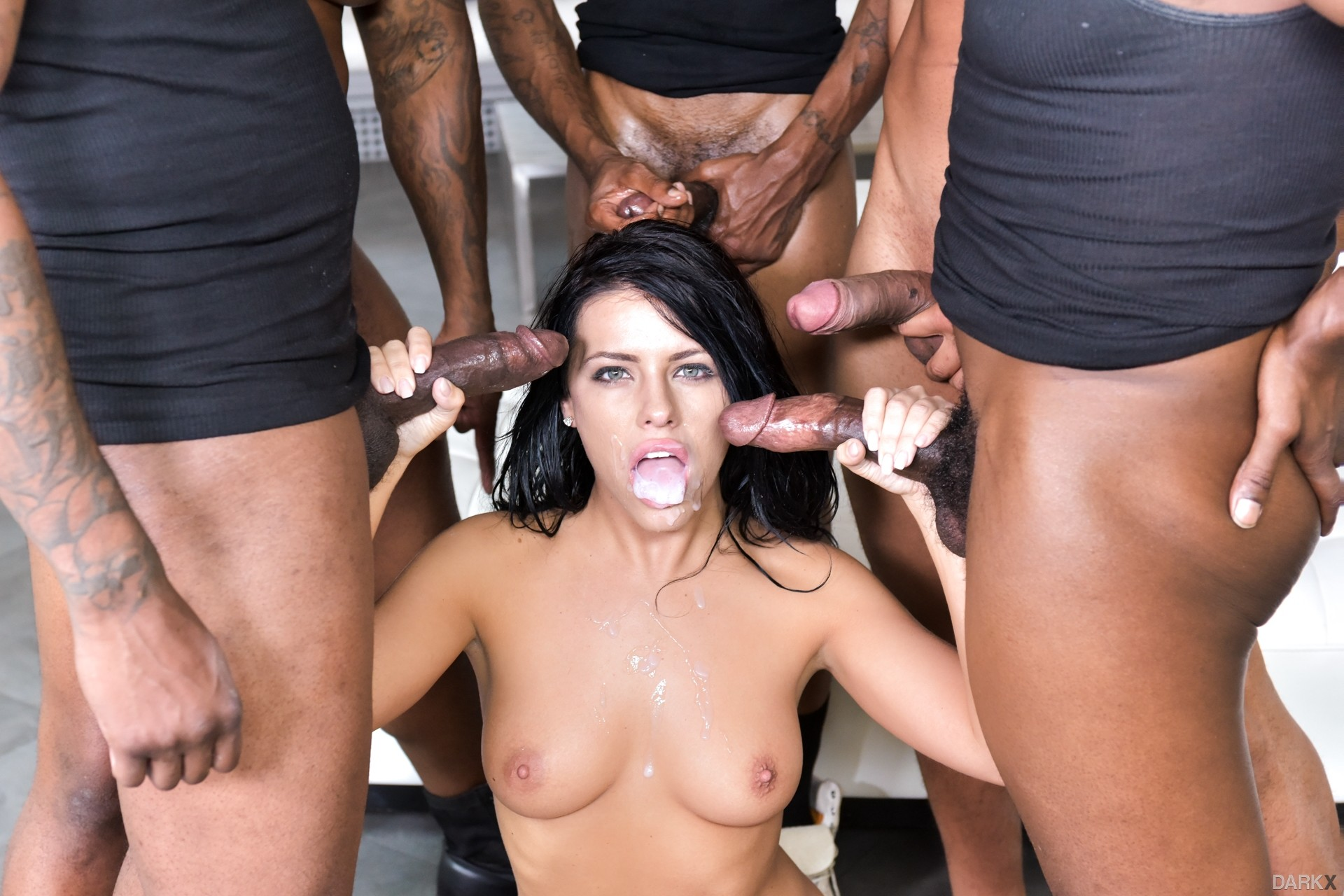 Black Monster Cock Gangbang