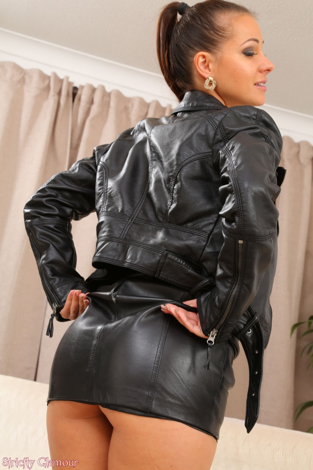 Fucked in leather jacket, monica arnold ass
