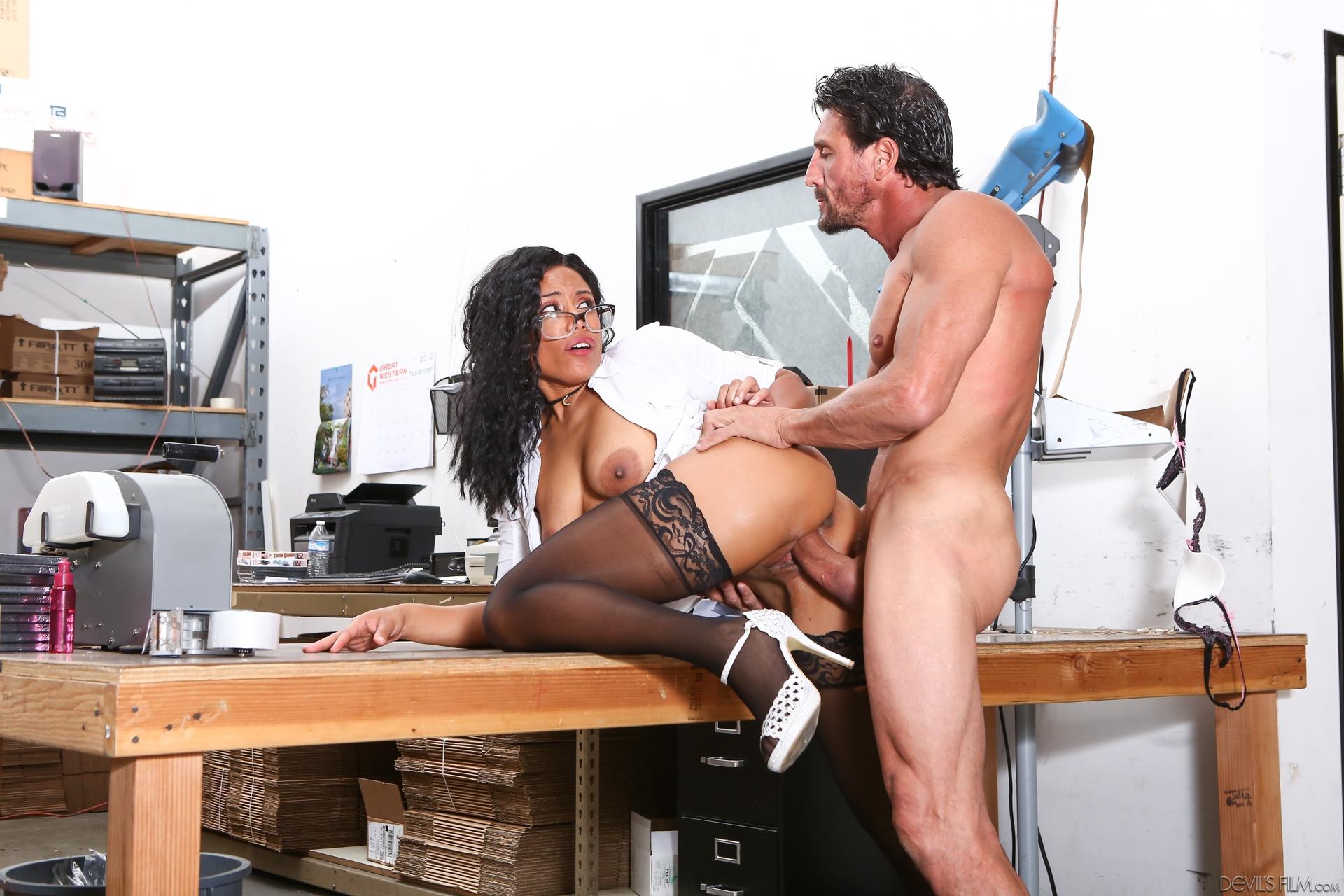 Big tits at the office 4