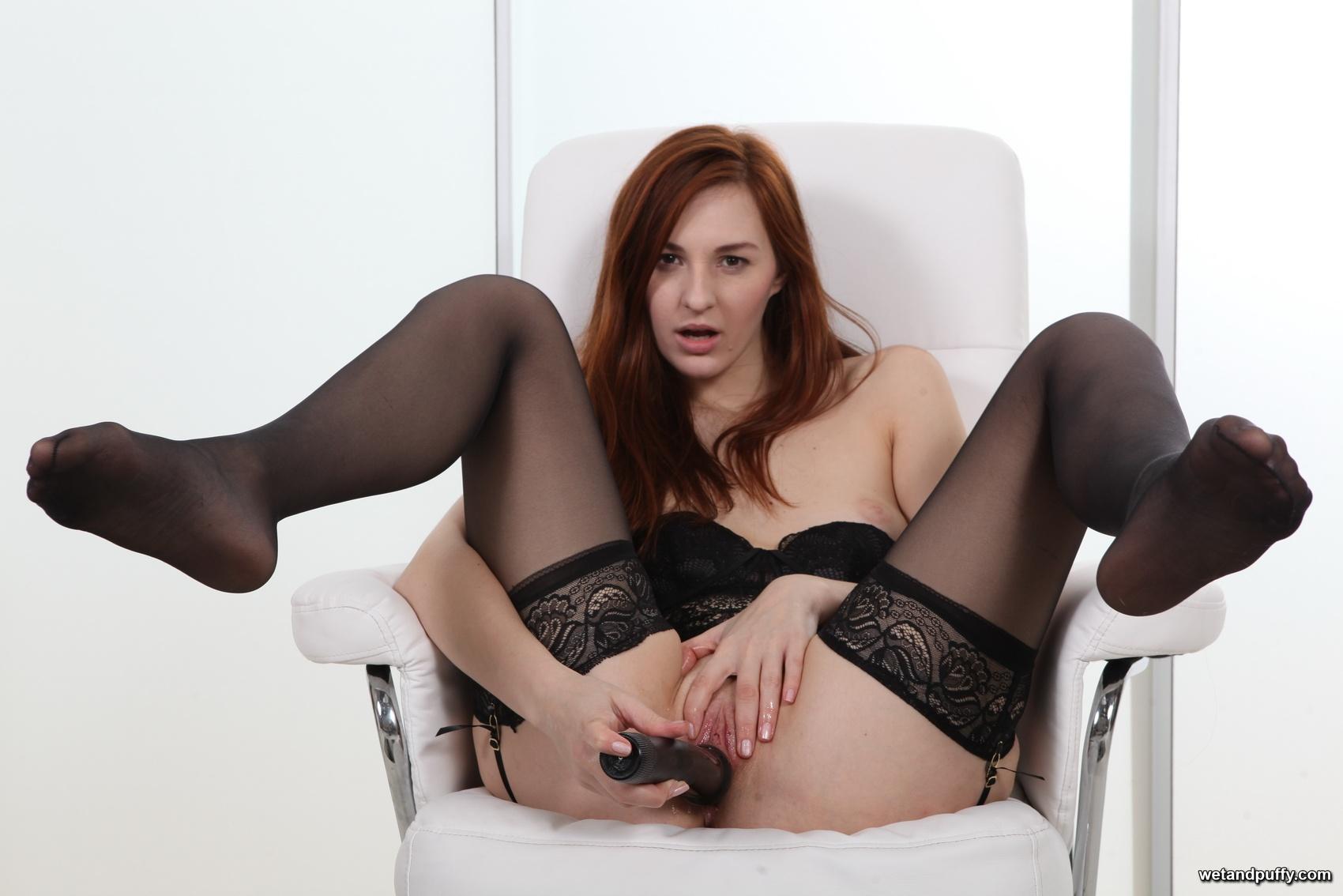 Stockings masturbate