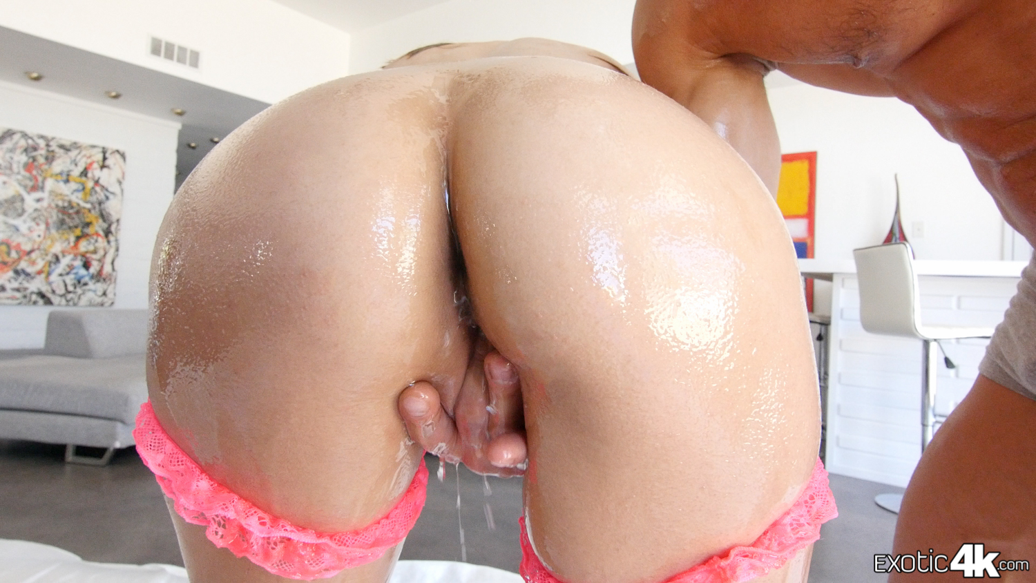 Watch Big Booty Asian Hana Haruna Slippery Wet Huge Butt Get Creampied
