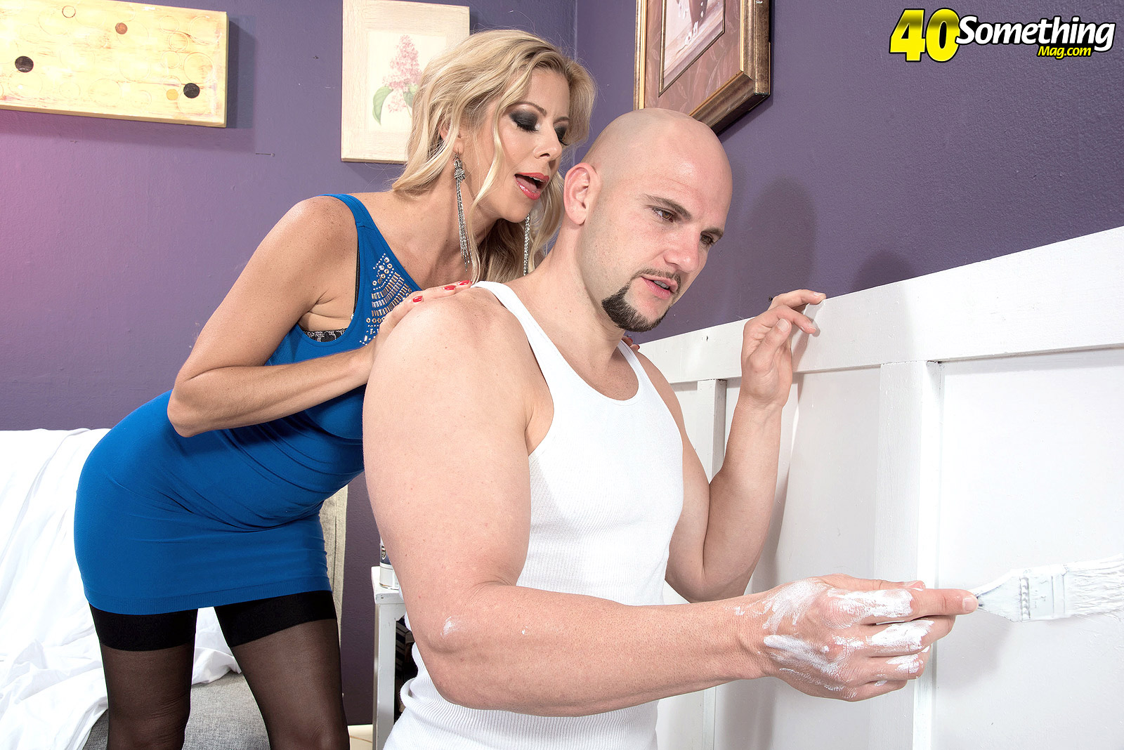 Naked MILF Alexis Fawx displaying huge tits before fucking large penis № 1277126 без смс