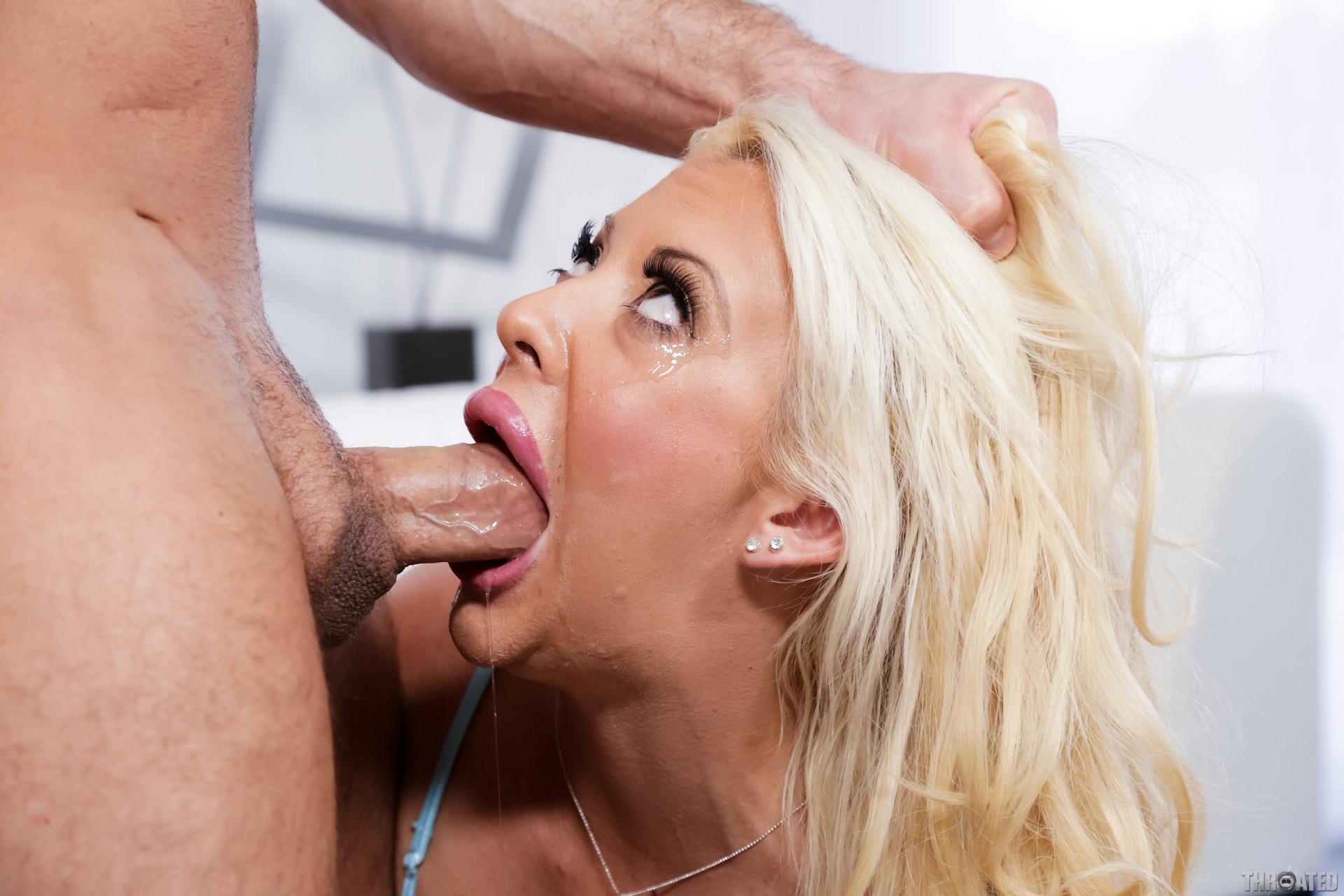 Severe Hot Blonde Powerfull Deepthroat