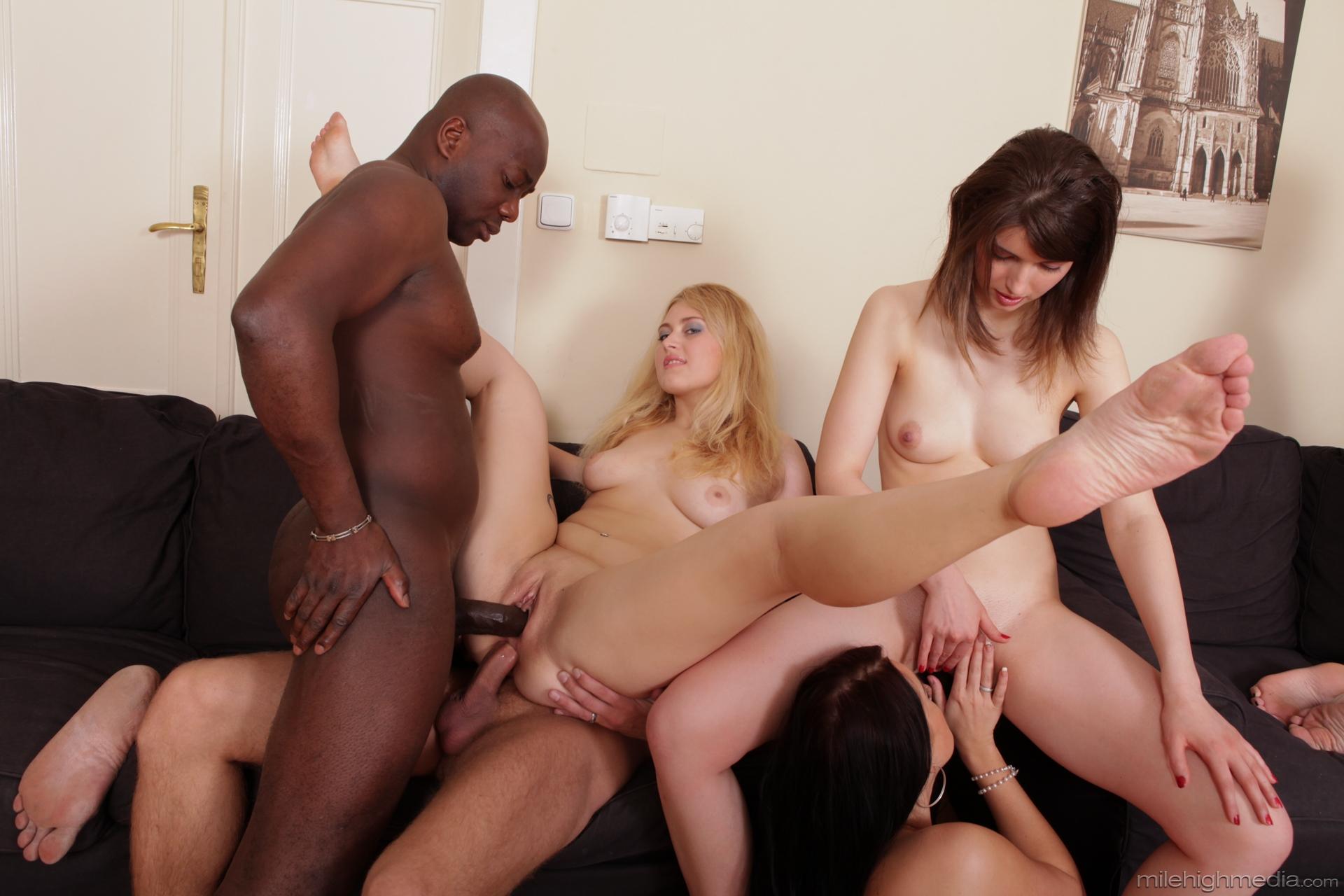 Black girl white girl orgy
