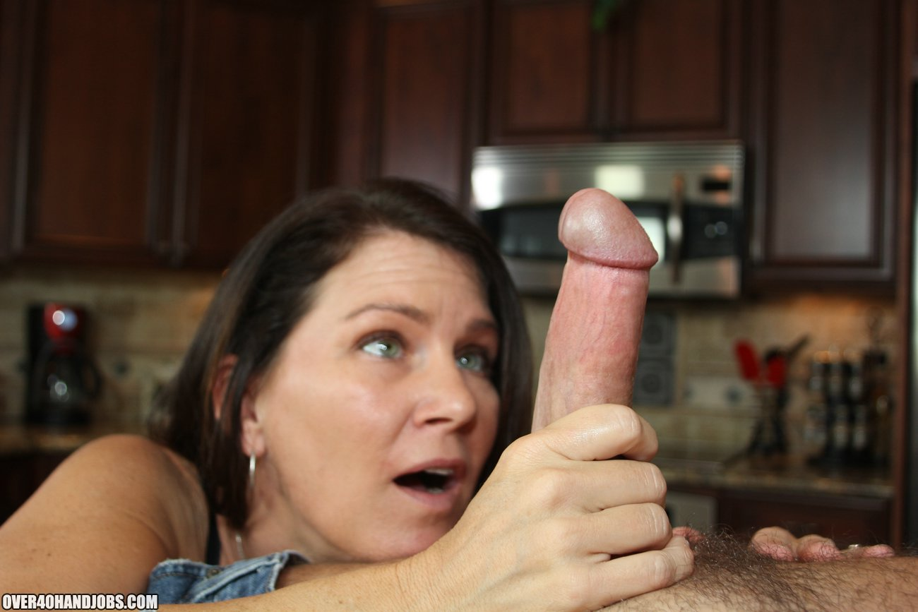 Handjob over video, mature momma videos