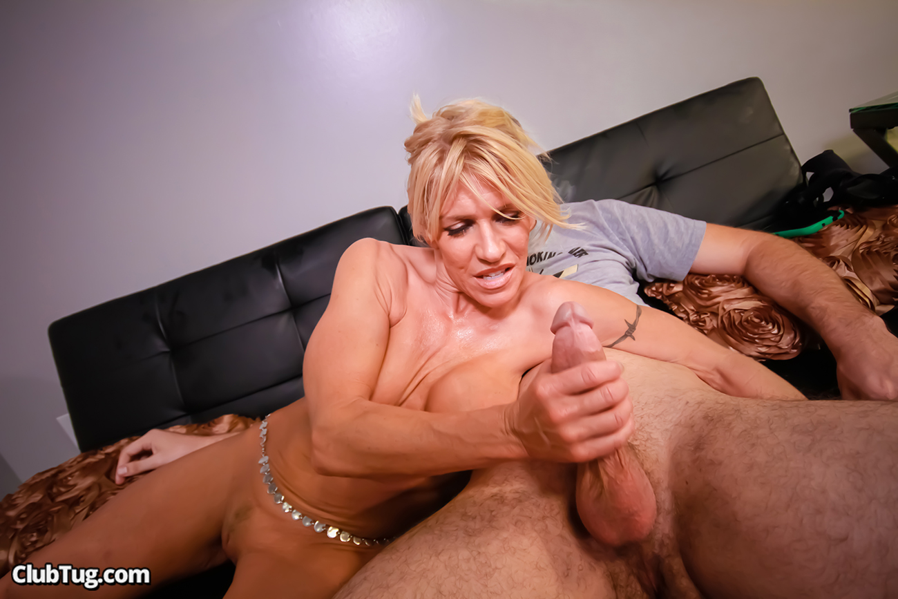 Greedy for cum dessert mommy amber chase gives a blowjob to her stepson