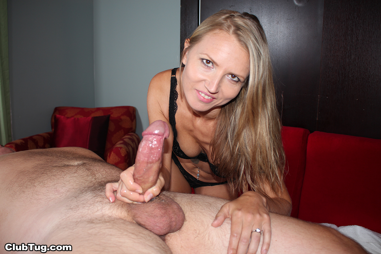 Busty Wife Gives Handjob