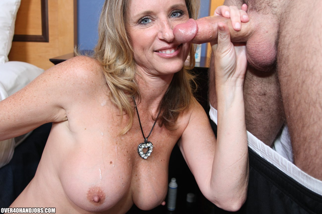 Two Mature Ladies Love To Jerk Off Dick Of Their Handsome Neighbor