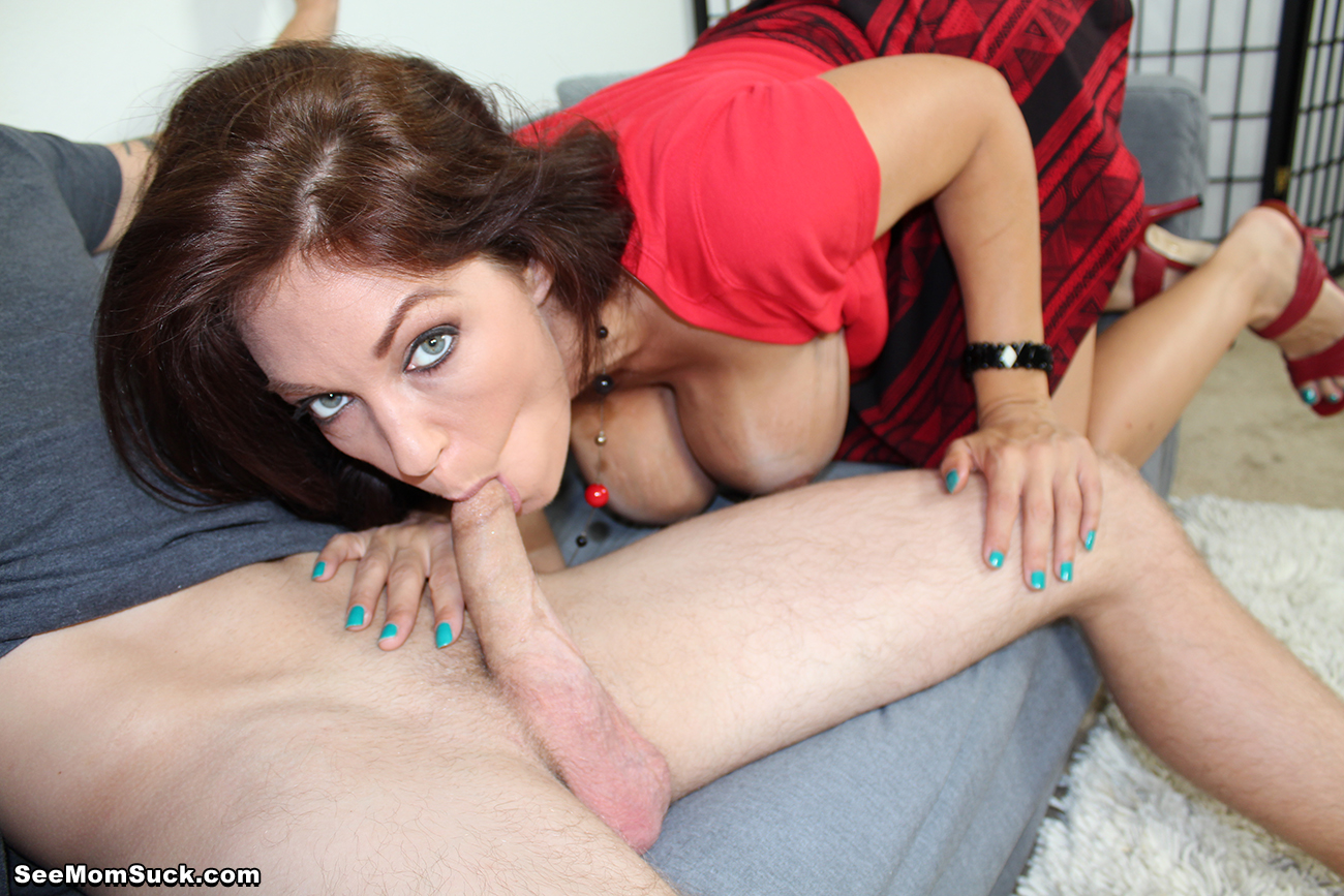 Mom blowjob with son