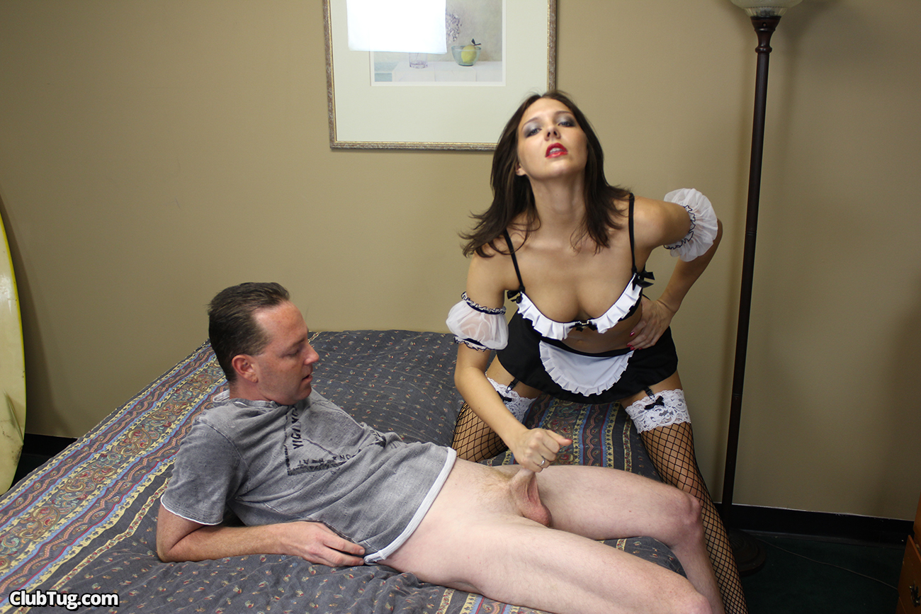 Bribing maid to clean my cock