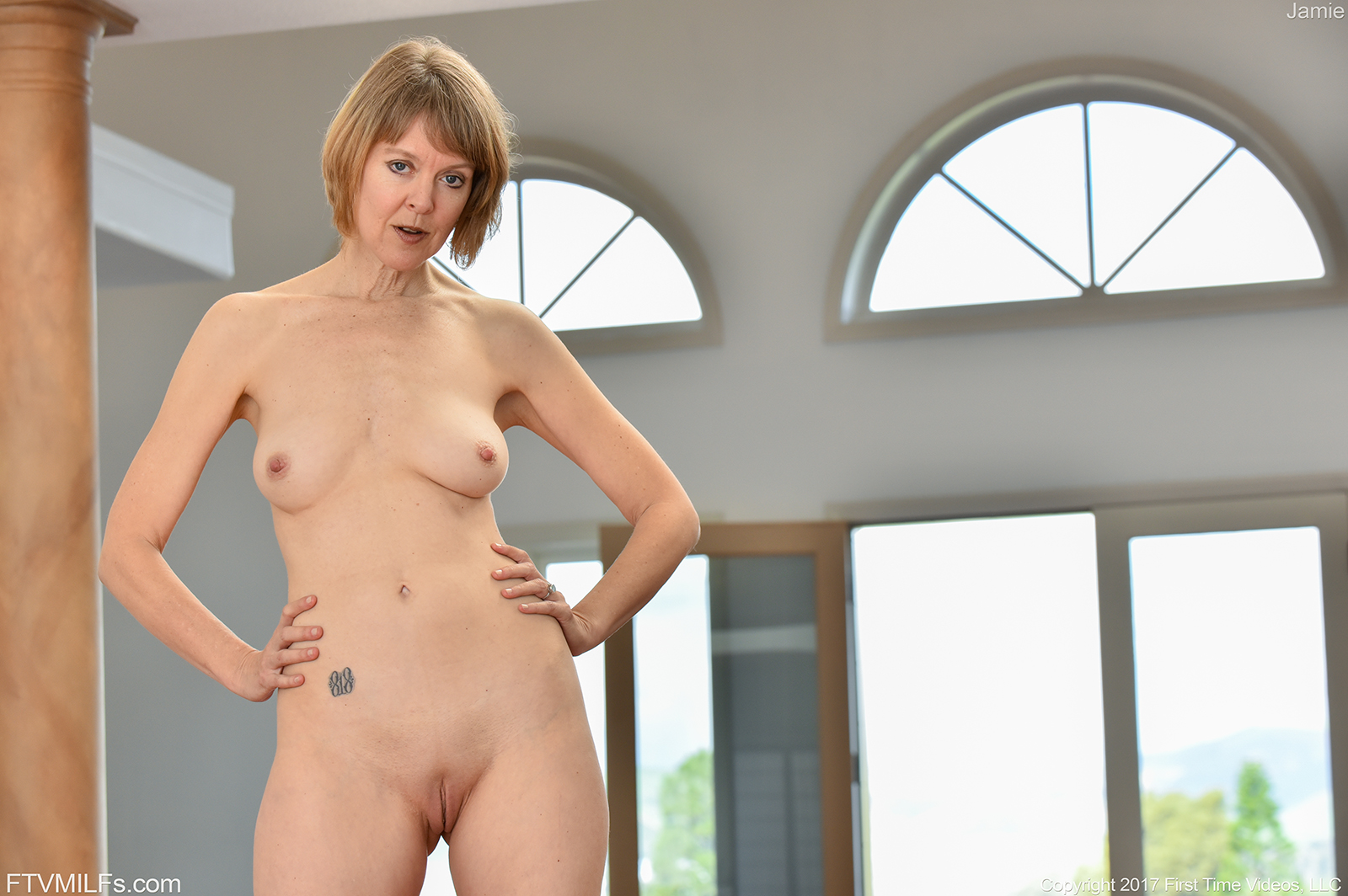 sexy naked women having fun at home alone