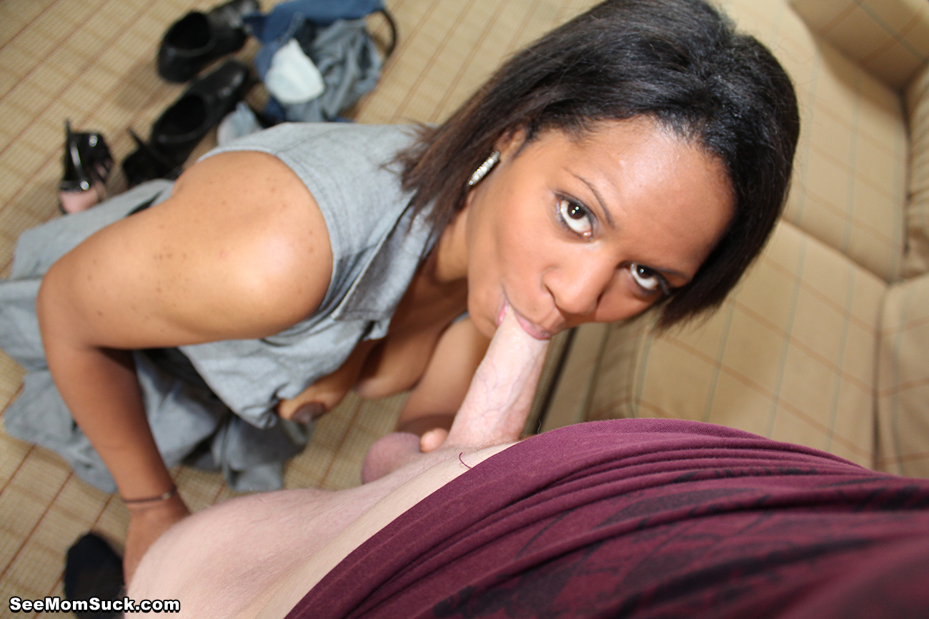 Sexy black milf rihanna suddenly finds out her stepson ben