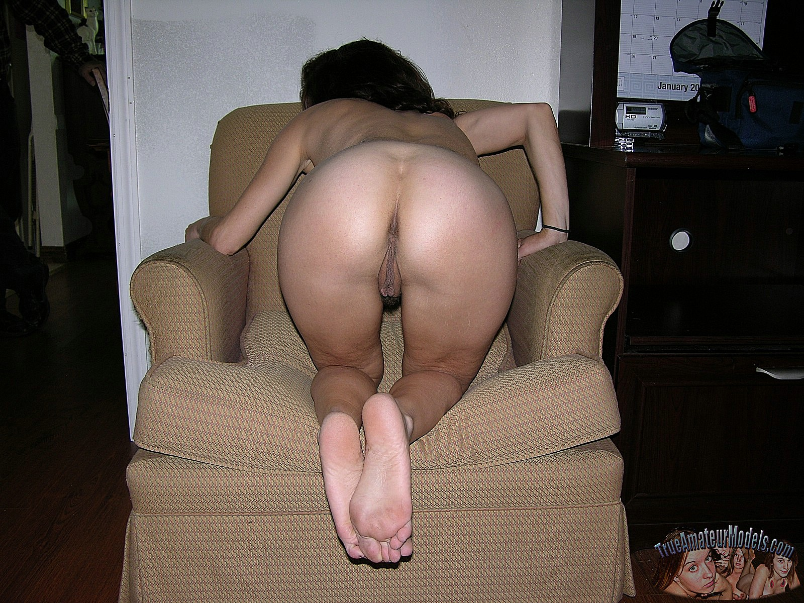 Wife bent over naked