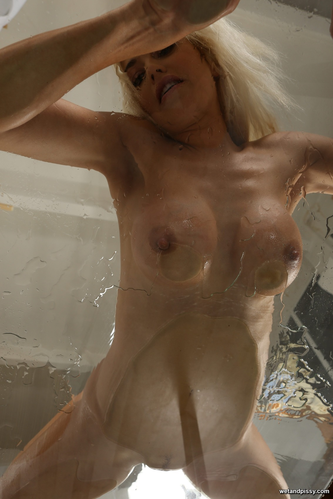 Piss soaked Lena Love toys her wet juicy pussy 117842