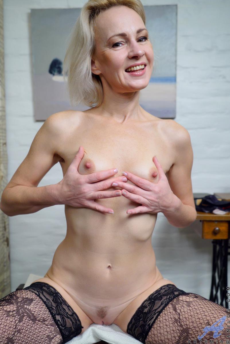 Puffy nipples got hard and dildoing hard