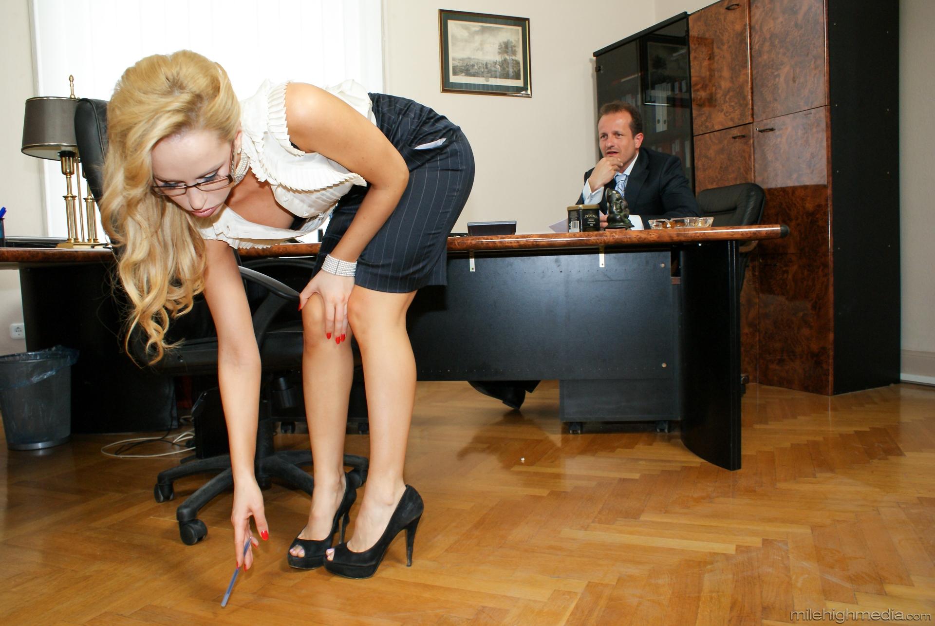 Lesbian videos secretary seduces office worker