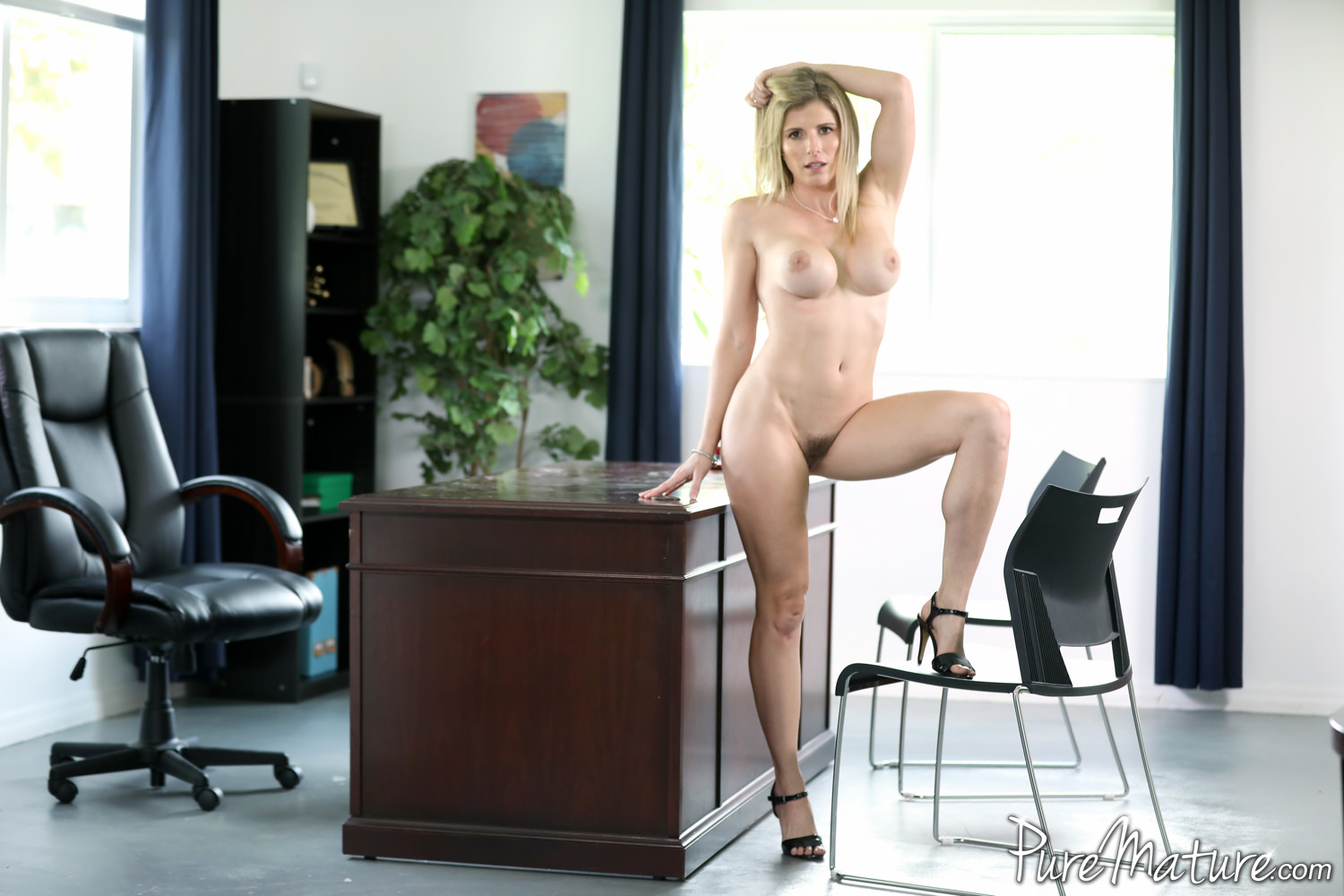 Sexually harassed by riley reyes shiny pantyhose cei - 3 4