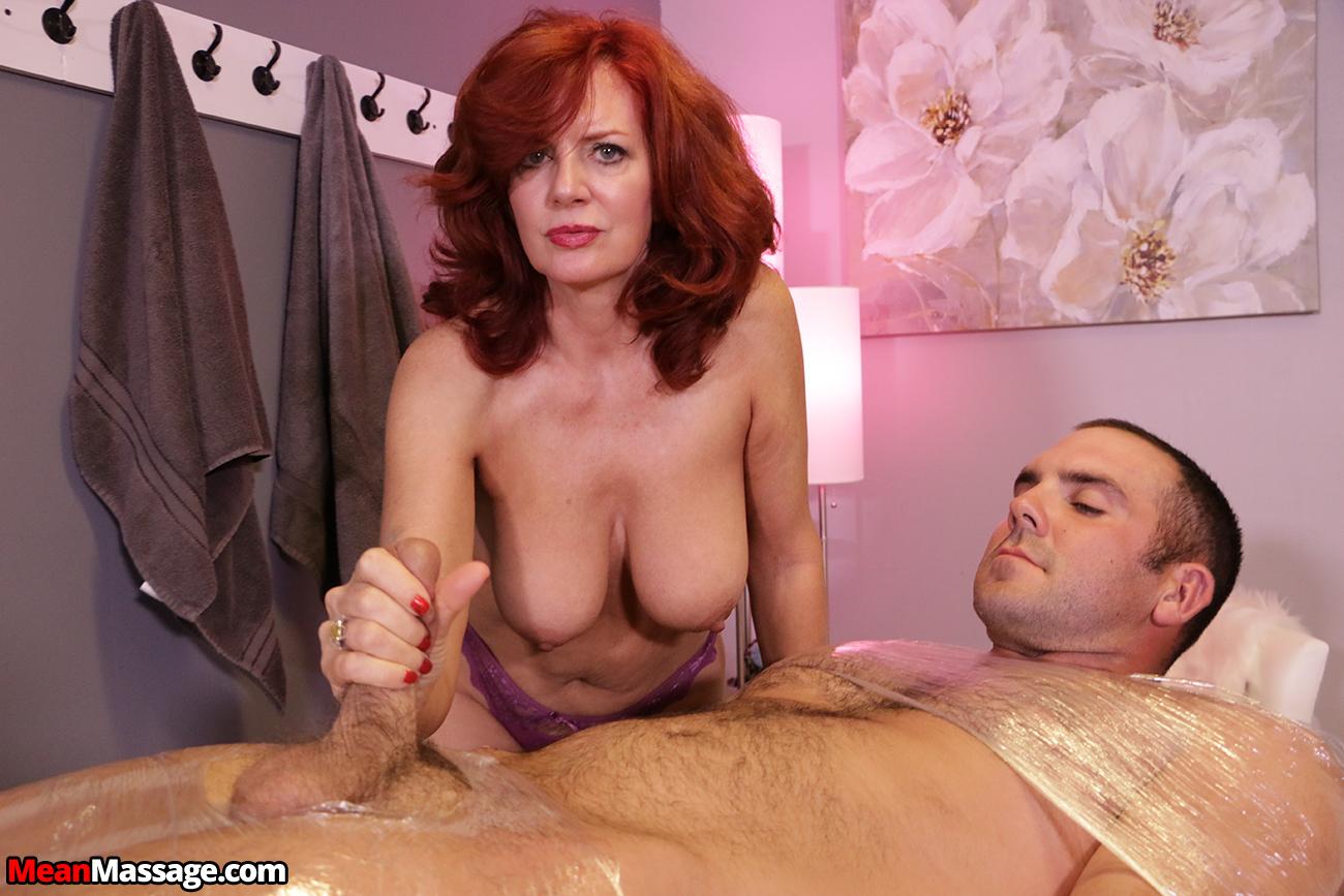 Redhead milf handjob