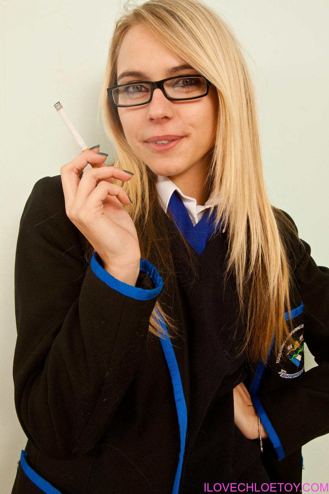 Chloe Toy Blue School Girl Smoking 137533