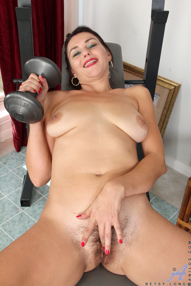 Trim milf with big boobs riding dildo