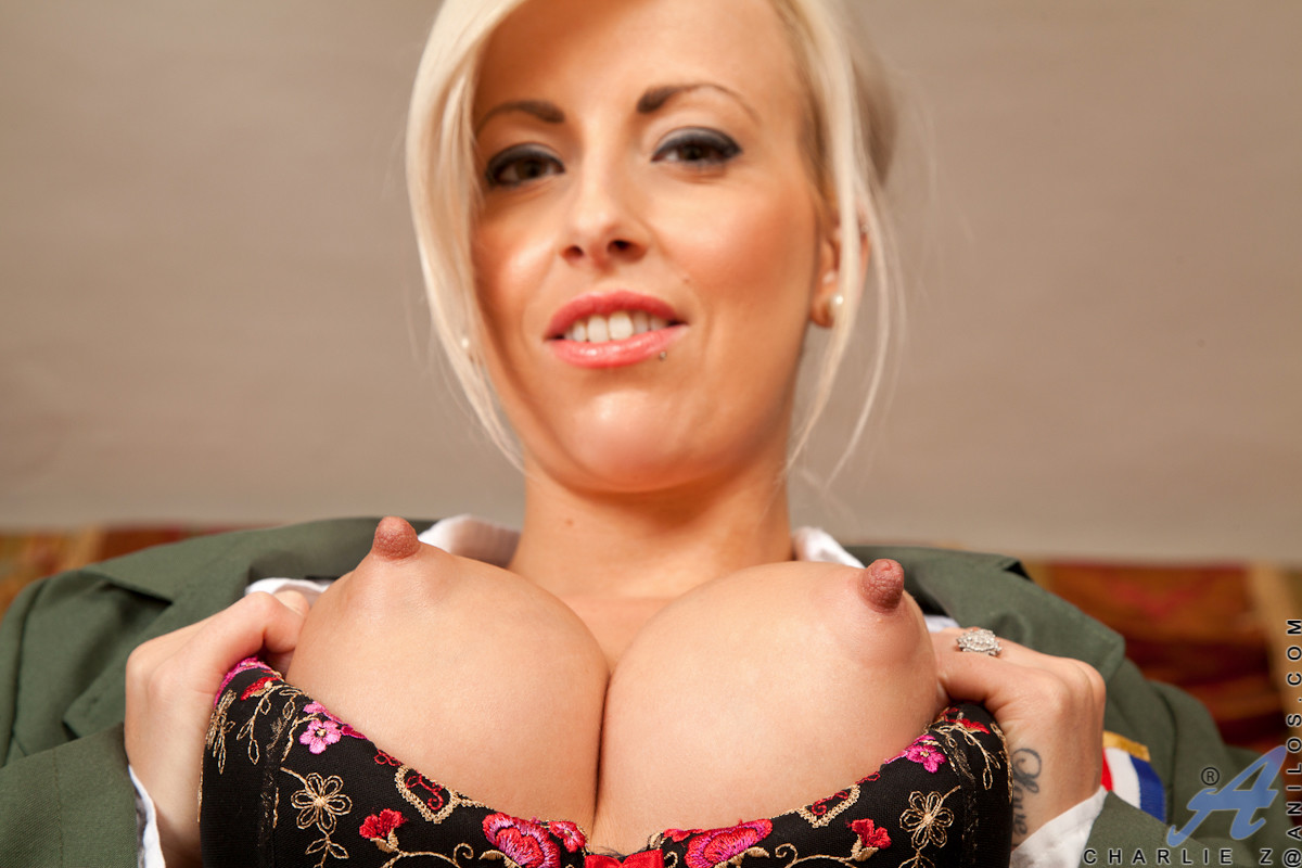 Milf with big tits suck dildo whenever you desires 8